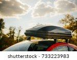 removable black car trunk for... | Shutterstock . vector #733223983