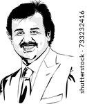 doha  qatar   october 12  emir... | Shutterstock .eps vector #733232416