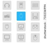 vector illustration of 12... | Shutterstock .eps vector #733236994