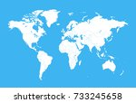 color world map | Shutterstock .eps vector #733245658