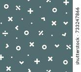 math symbol seamless pattern... | Shutterstock .eps vector #733247866