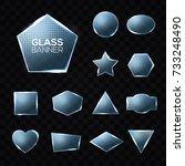 glass plates set. triangle ...   Shutterstock .eps vector #733248490