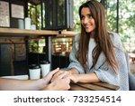 portrait of a happy satisfied...   Shutterstock . vector #733254514