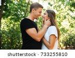 portrait of a sensual tender...   Shutterstock . vector #733255810