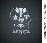african continent shape with...
