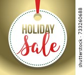 gold hang tag holiday sale...   Shutterstock .eps vector #733260688