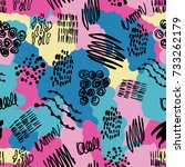 fashion fabric vector abstract... | Shutterstock .eps vector #733262179