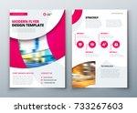 flyer template layout design....   Shutterstock .eps vector #733267603
