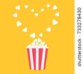 popcorn popping. heart shape... | Shutterstock .eps vector #733278430