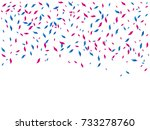 many falling colorful blue and... | Shutterstock .eps vector #733278760
