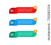 steps elements for web... | Shutterstock .eps vector #733281214