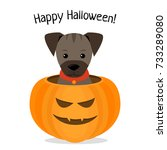 happy halloween  vector... | Shutterstock .eps vector #733289080