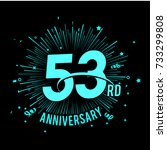 53rd anniversary logo with... | Shutterstock .eps vector #733299808