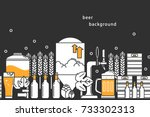 Beer. Vector Background....