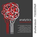 big data vector illustration.... | Shutterstock .eps vector #733303969