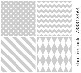 tile grey and white vector... | Shutterstock .eps vector #733313464
