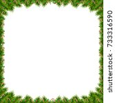 christmas tree decorated frame... | Shutterstock .eps vector #733316590