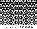 ornament with elements of black ... | Shutterstock . vector #733316734