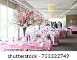 banquet venue for bridal shower ... | Shutterstock . vector #733322749