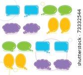speech bubble | Shutterstock .eps vector #73332544