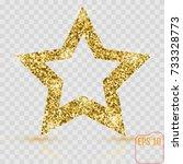 golden glitter star of many... | Shutterstock .eps vector #733328773