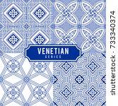 tiled backgrounds with venetian ... | Shutterstock .eps vector #733340374