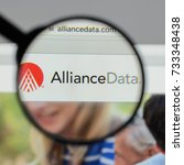 Small photo of Milan, Italy - August 10, 2017: Alliance Data Systems logo on the website homepage.