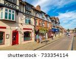 stratford upon avon  england  ... | Shutterstock . vector #733354114