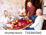 happy family having holiday...   Shutterstock . vector #733360360