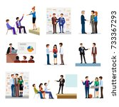business people groups... | Shutterstock .eps vector #733367293