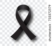 thailand awareness black ribbon ... | Shutterstock .eps vector #733372579