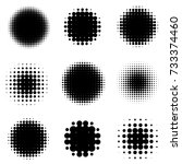 abstract halftone backgrounds....   Shutterstock .eps vector #733374460