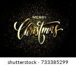 merry christmas wish greeting... | Shutterstock .eps vector #733385299