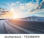 asphalt road and mountain... | Shutterstock . vector #733388494