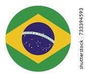 simple vector button flag  ... | Shutterstock .eps vector #733394593