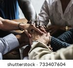 diverse religious shoot  | Shutterstock . vector #733407604