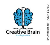 creative brain logo | Shutterstock .eps vector #733411780