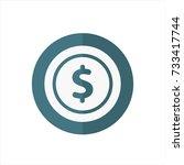 money icon in trendy flat style ... | Shutterstock .eps vector #733417744