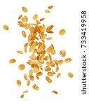 corn flakes flying isolated on... | Shutterstock . vector #733419958