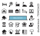 real estate icons | Shutterstock .eps vector #733421623