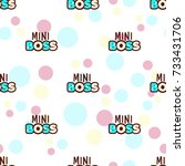 mini boss seamless pattern... | Shutterstock .eps vector #733431706