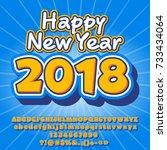 vector happy new year 2018...   Shutterstock .eps vector #733434064
