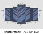server page background  server... | Shutterstock .eps vector #733434160