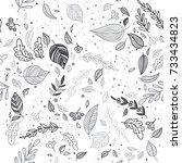 lovely autumn vector seamless... | Shutterstock .eps vector #733434823