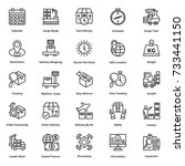 logistic delivery vector icons...   Shutterstock .eps vector #733441150