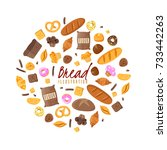 baking isolated items collected ... | Shutterstock .eps vector #733442263