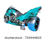 3d cg rendering of a motorcycle | Shutterstock . vector #733444810