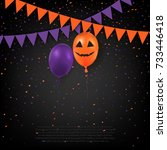 halloween greeting template.... | Shutterstock .eps vector #733446418