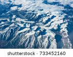 Mountain Range By Air. Glaciers ...