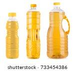 bottles of sunflower oil...   Shutterstock . vector #733454386
